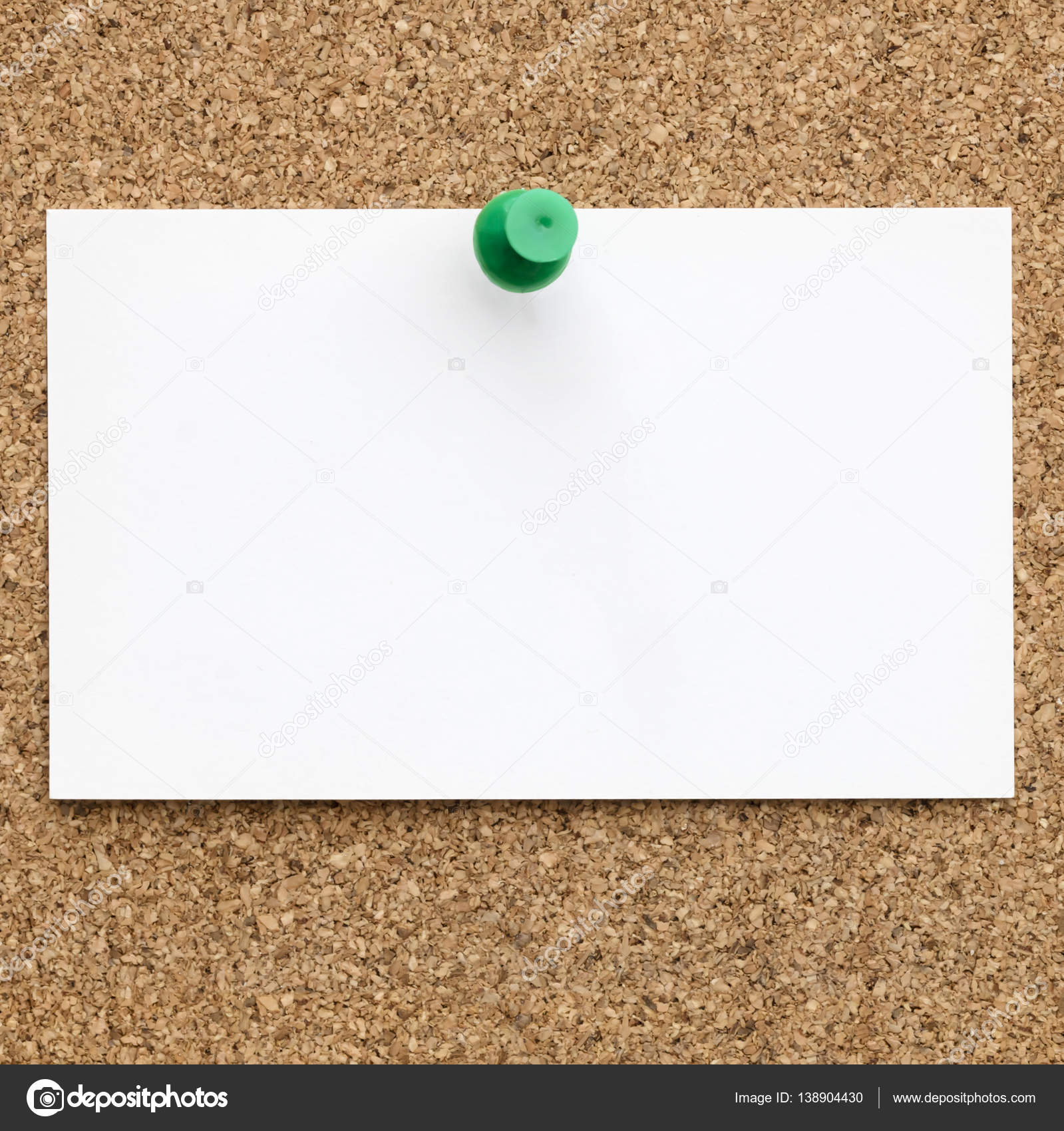 Blank Business Card Pinned to Cork Board — Stock Photo © robynmac ...