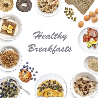 Healthy Breakfasts Collage