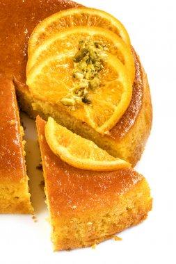 Flourless Orange Cake over white