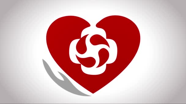Heart treatment symbol, Wheel inside the heart.
