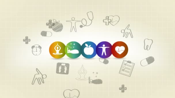 Sada symbolů zdravotní péče