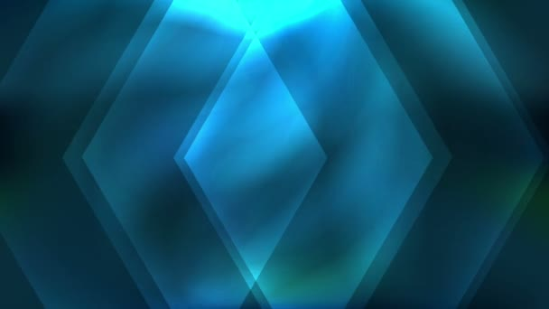 Abstract moving shapes background with glow