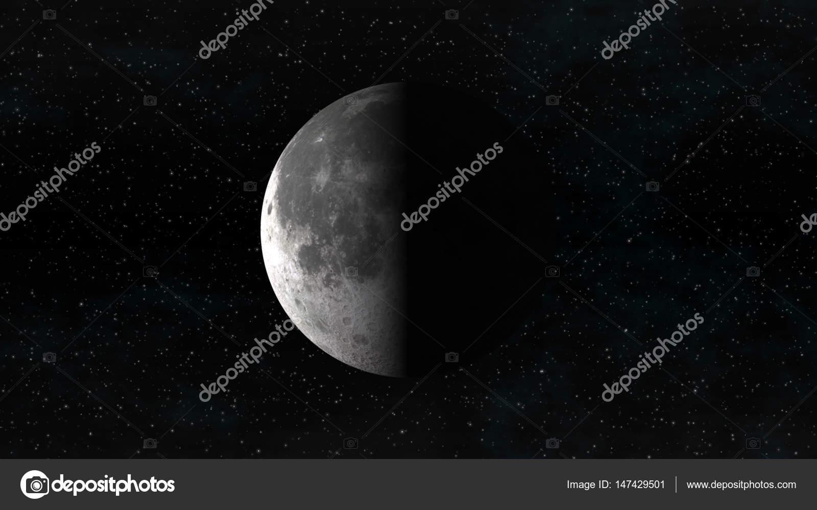 Fotos: luna cuarto menguante | La luna en fase cuarto pasada sobre ...