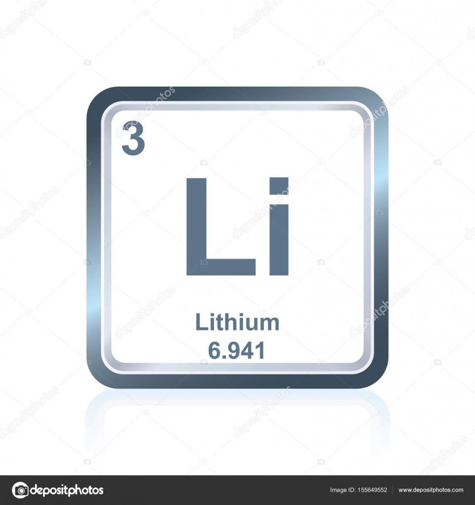 Chemical element lithium from the periodic table stock vector symbol of chemical element lithium as seen on the periodic table of the elements including atomic number and atomic weight vector by noedelhap urtaz Choice Image