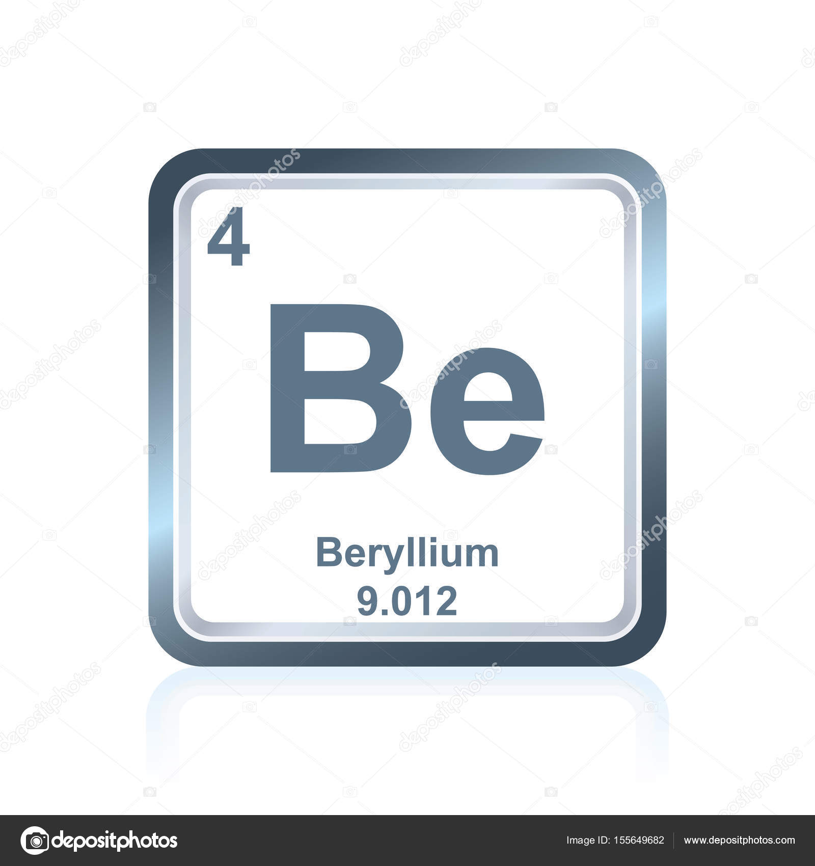 Chemical element beryllium from the periodic table stock vector symbol of chemical element beryllium as seen on the periodic table of the elements including atomic number and atomic weight vector by noedelhap urtaz Choice Image