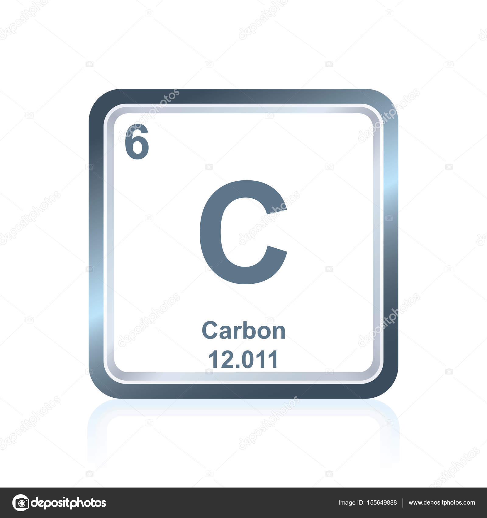 chemical element carbon from the periodic table stock vector - Periodic Table Carbon