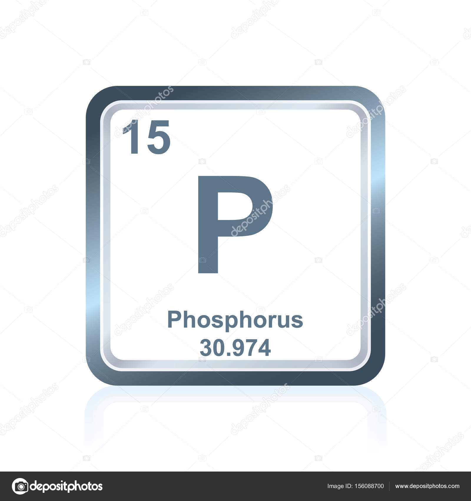 Chemical element phosphorus from the periodic table stock vector symbol of chemical element phosphorus as seen on the periodic table of the elements including atomic number and atomic weight vector by noedelhap urtaz Images