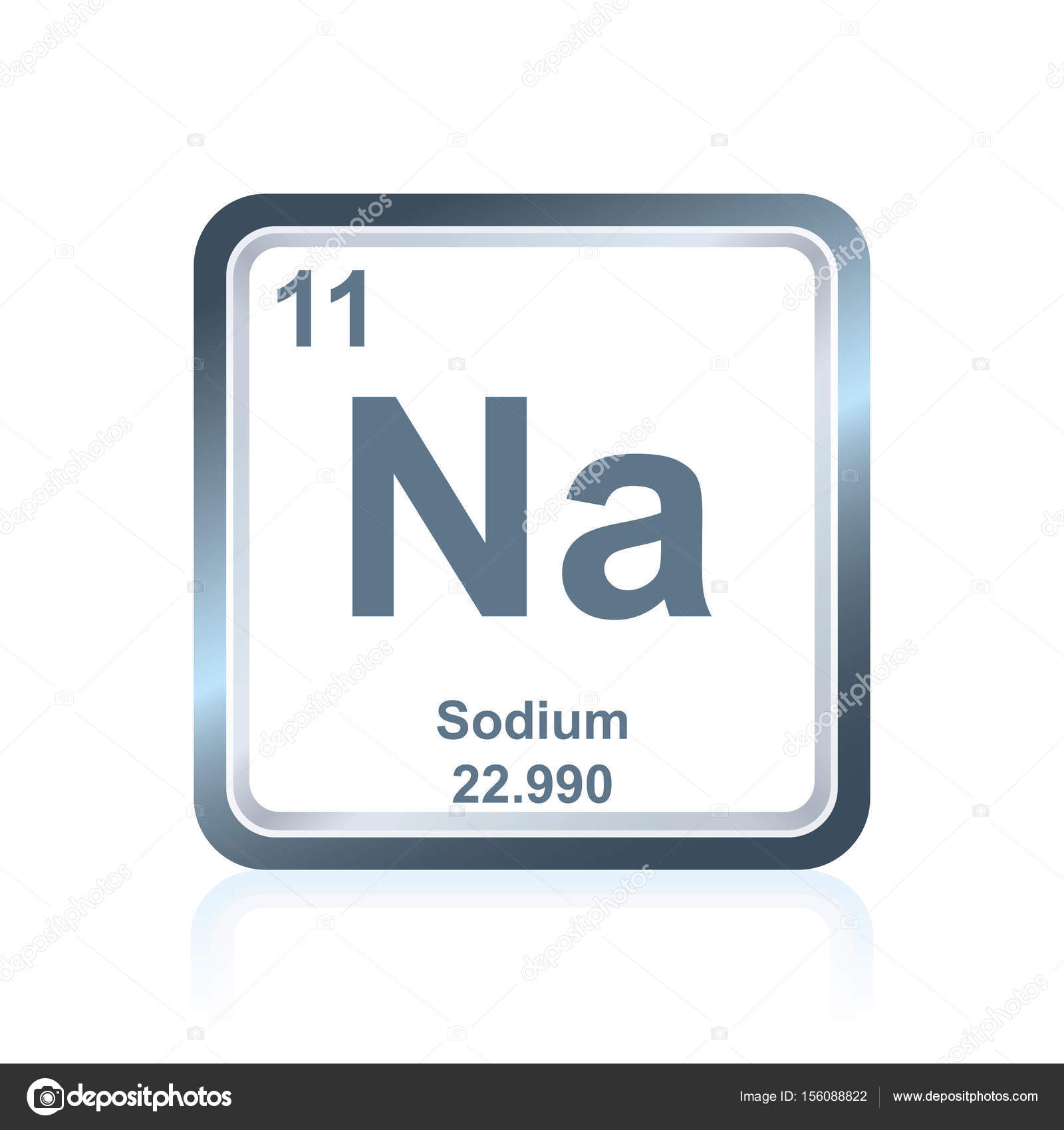 Chemical Element Sodium From The Periodic Table Stock Vector
