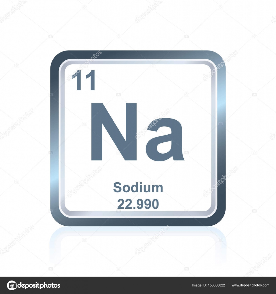 Chemical element sodium from the periodic table stock vector symbol of chemical element sodium as seen on the periodic table of the elements including atomic number and atomic weight vector by noedelhap urtaz Image collections