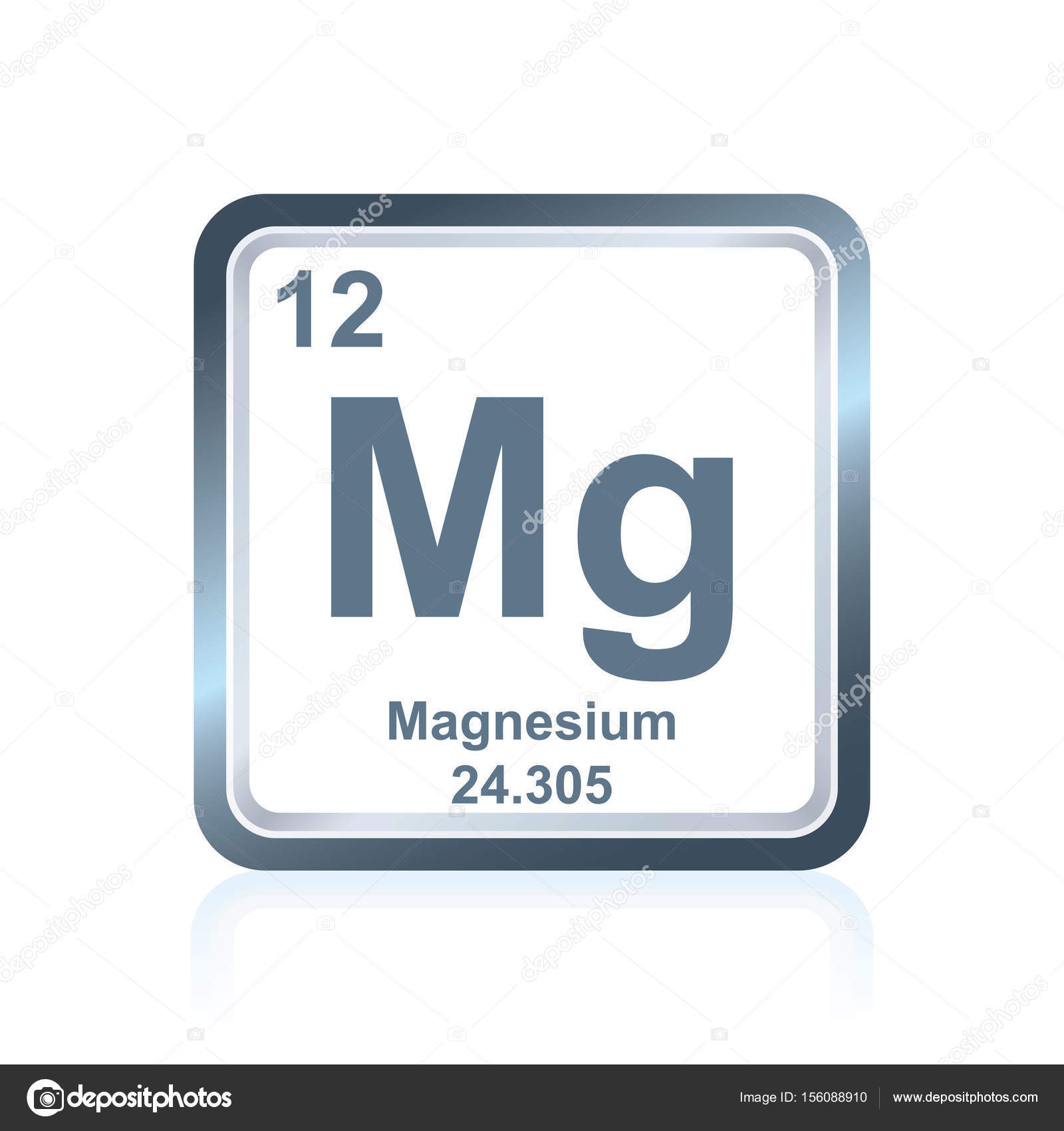 Chemical element magnesium from the periodic table stock vector symbol of chemical element magnesium as seen on the periodic table of the elements including atomic number and atomic weight vector by noedelhap urtaz Images