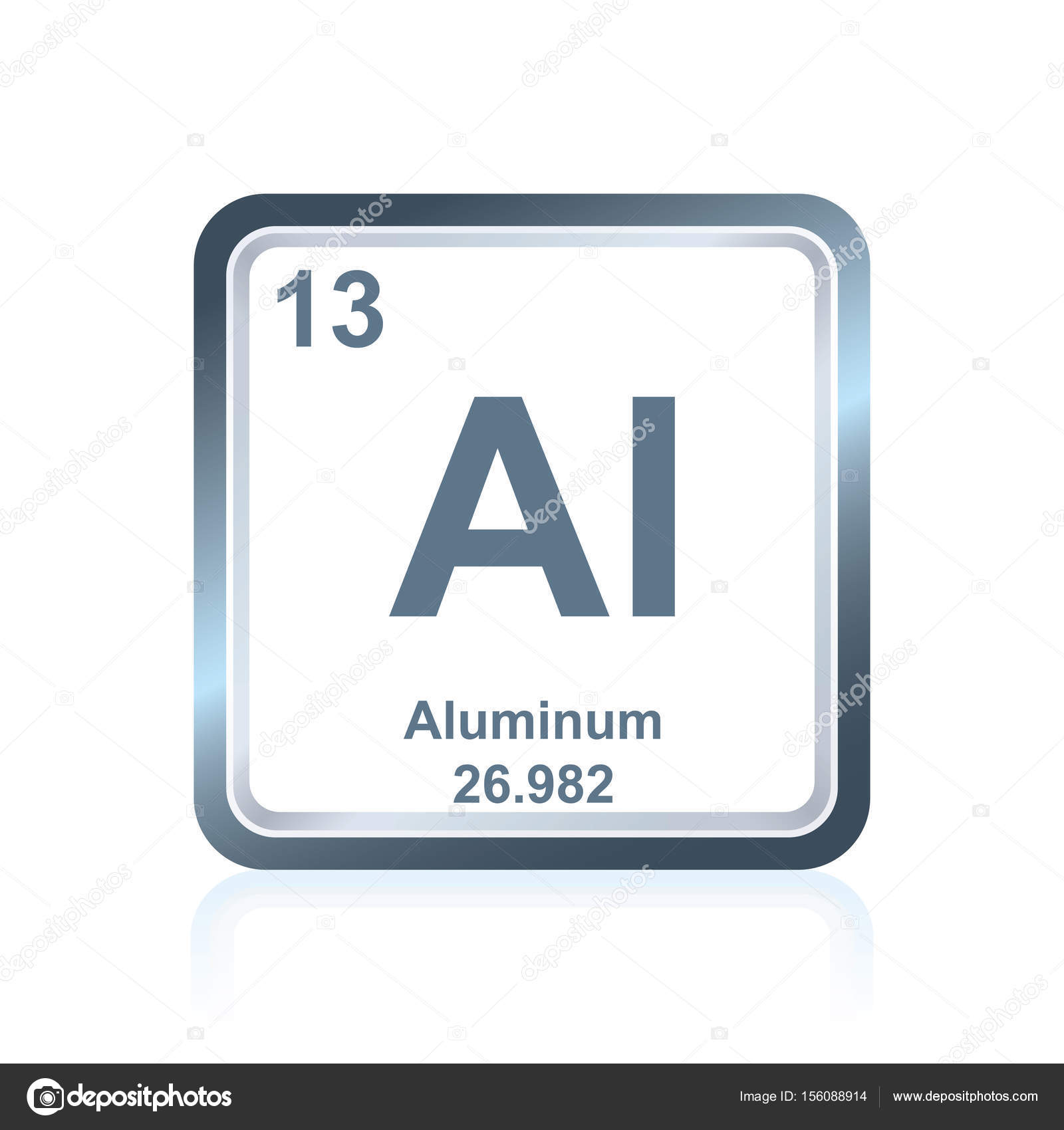 Chemical Element Aluminum From The Periodic Table Stock Vector