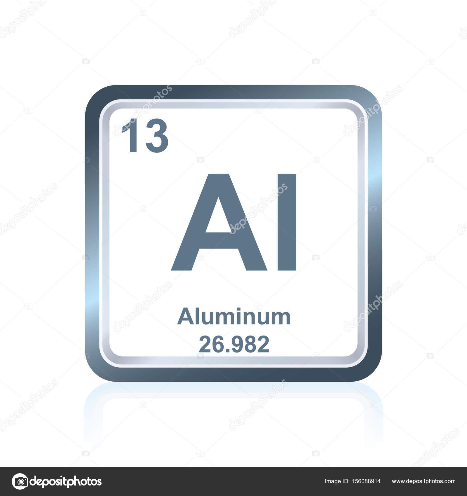 Aluminium d l ment chimique du tableau p riodique image for V tableau periodique