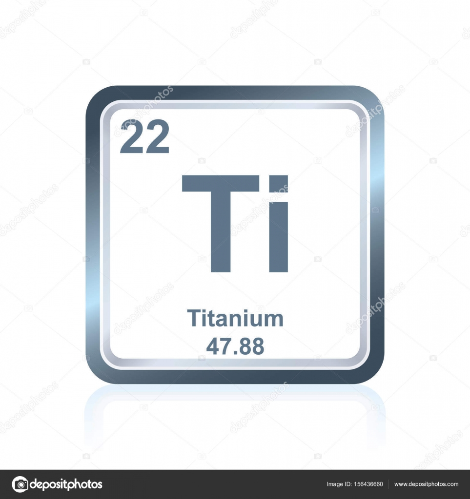 Chemical element titanium from the periodic table stock vector symbol of chemical element titanium as seen on the periodic table of the elements including atomic number and atomic weight vector by noedelhap urtaz Image collections