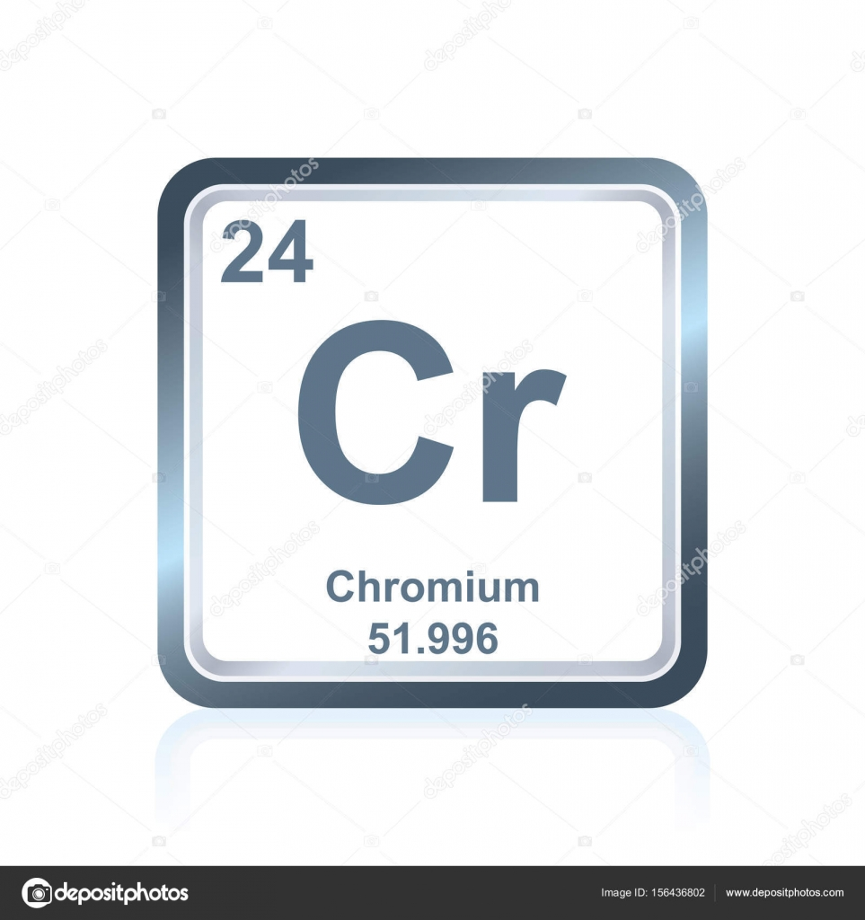 Chemical element chromium from the periodic table stock vector symbol of chemical element chromium as seen on the periodic table of the elements including atomic number and atomic weight vector by noedelhap buycottarizona
