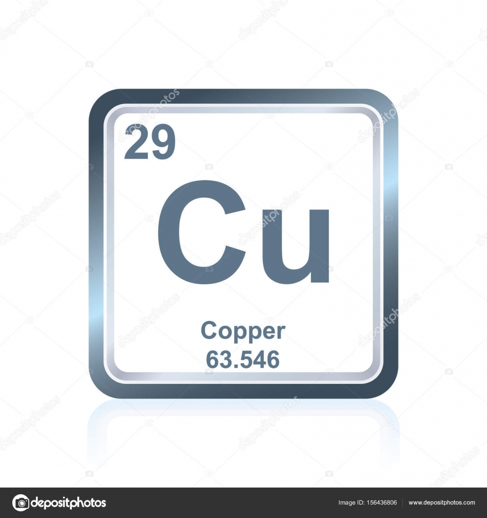 Chemical element copper from the periodic table stock vector symbol of chemical element copper as seen on the periodic table of the elements including atomic number and atomic weight vector by noedelhap buycottarizona