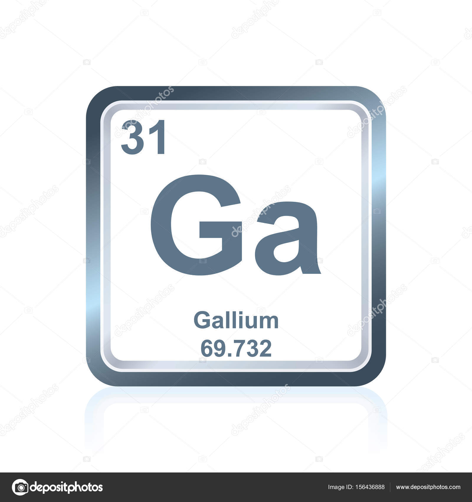 galio elemento qumico de la tabla peridica vector de stock - Tabla Periodica De Los Elementos Galio