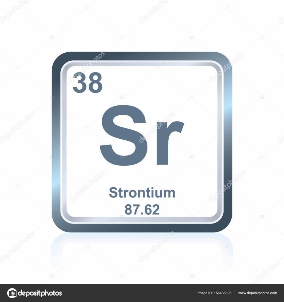 Chemical Element Strontium From The Periodic Table Stock Vector