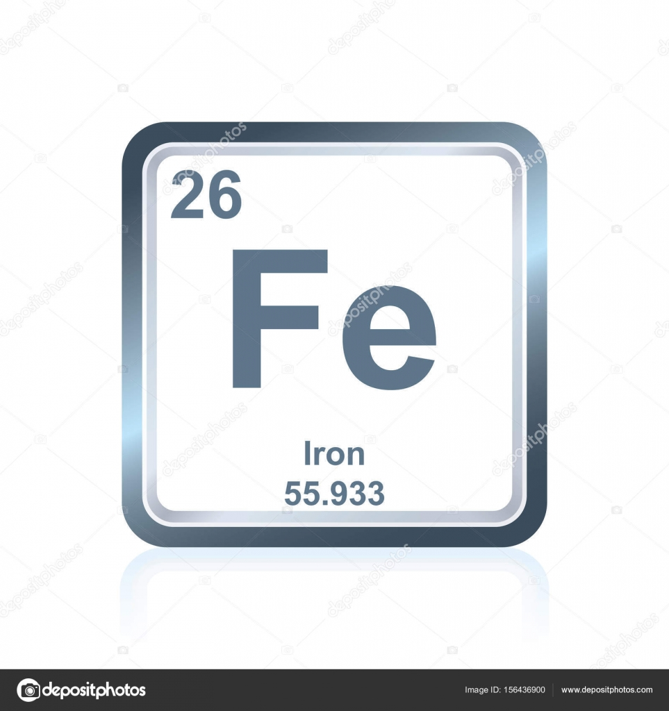 Chemical element iron from the periodic table stock vector symbol of chemical element iron as seen on the periodic table of the elements including atomic number and atomic weight vector by noedelhap buycottarizona Image collections