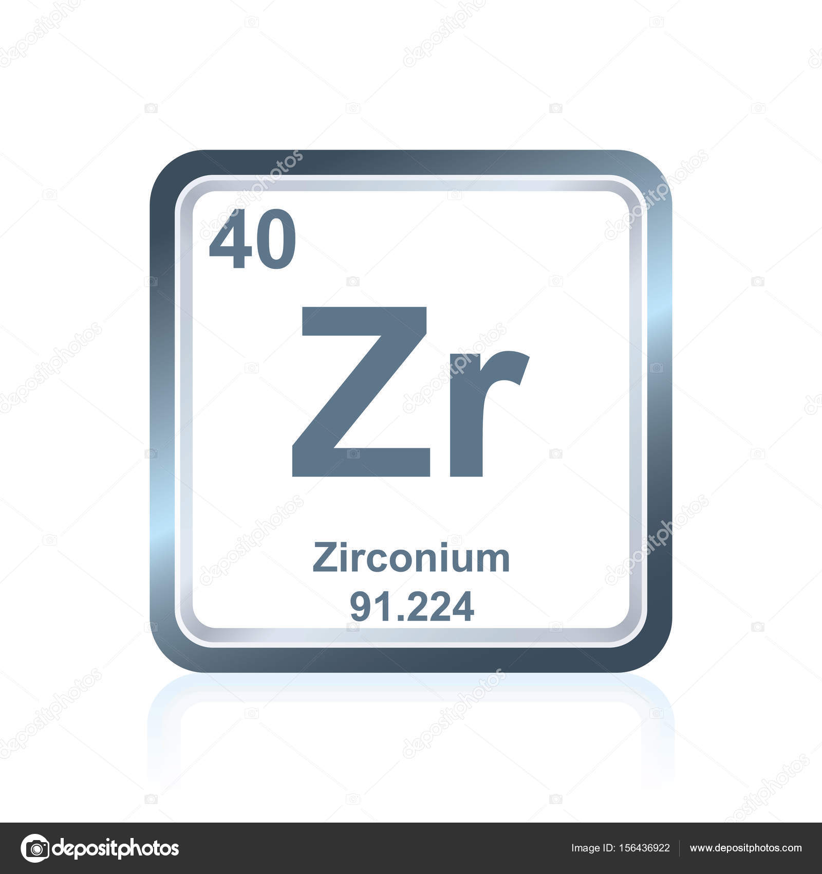 Chemical element zirconium from the periodic table stock vector chemical element zirconium from the periodic table stock vector urtaz Gallery
