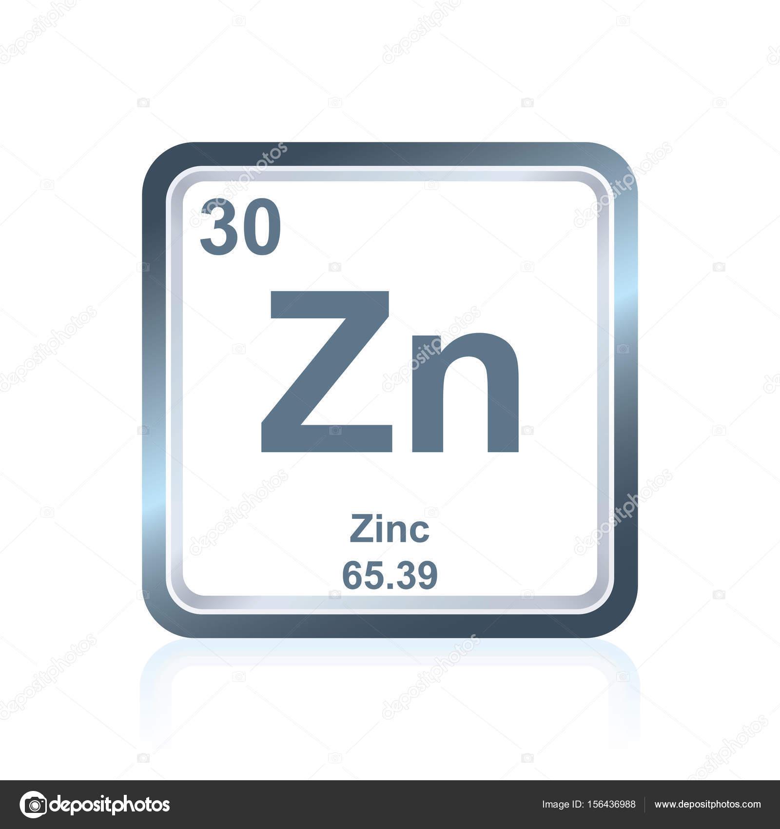 Zinc de elemento qumico de la tabla peridica vector de stock smbolo de zinc elemento qumico como se ve en la tabla peridica de los elementos incluyendo el nmero atmico y peso atmico vector de noedelhap urtaz Image collections