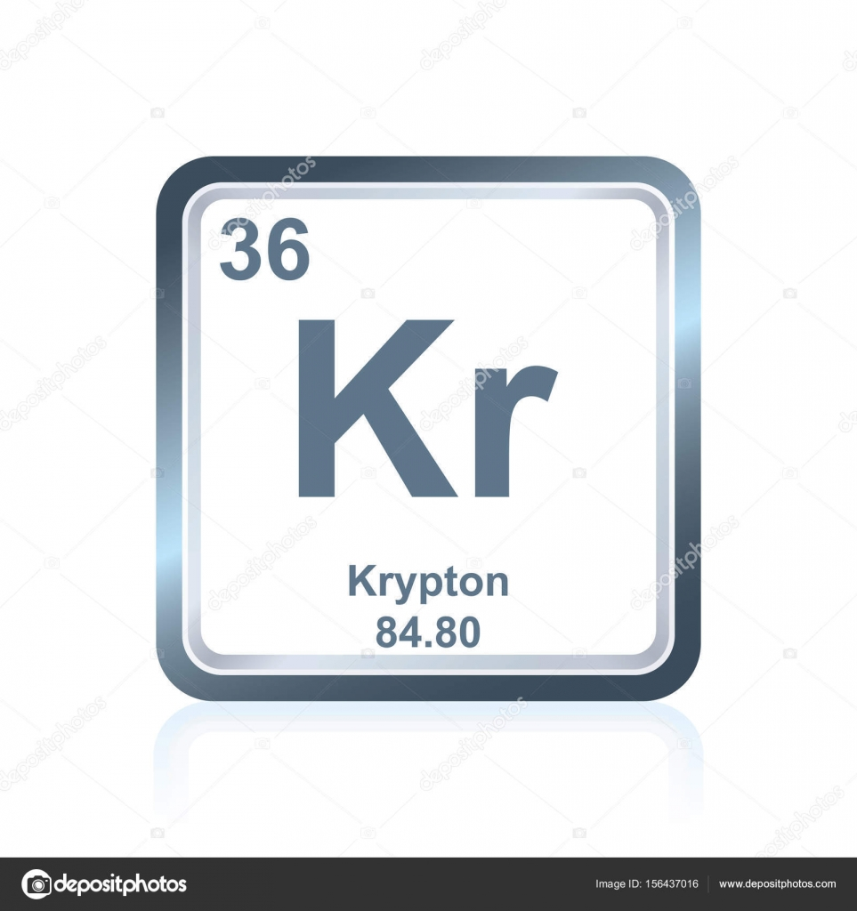 Chemical element krypton from the periodic table stock vector symbol of chemical element krypton as seen on the periodic table of the elements including atomic number and atomic weight vector by noedelhap gamestrikefo Images