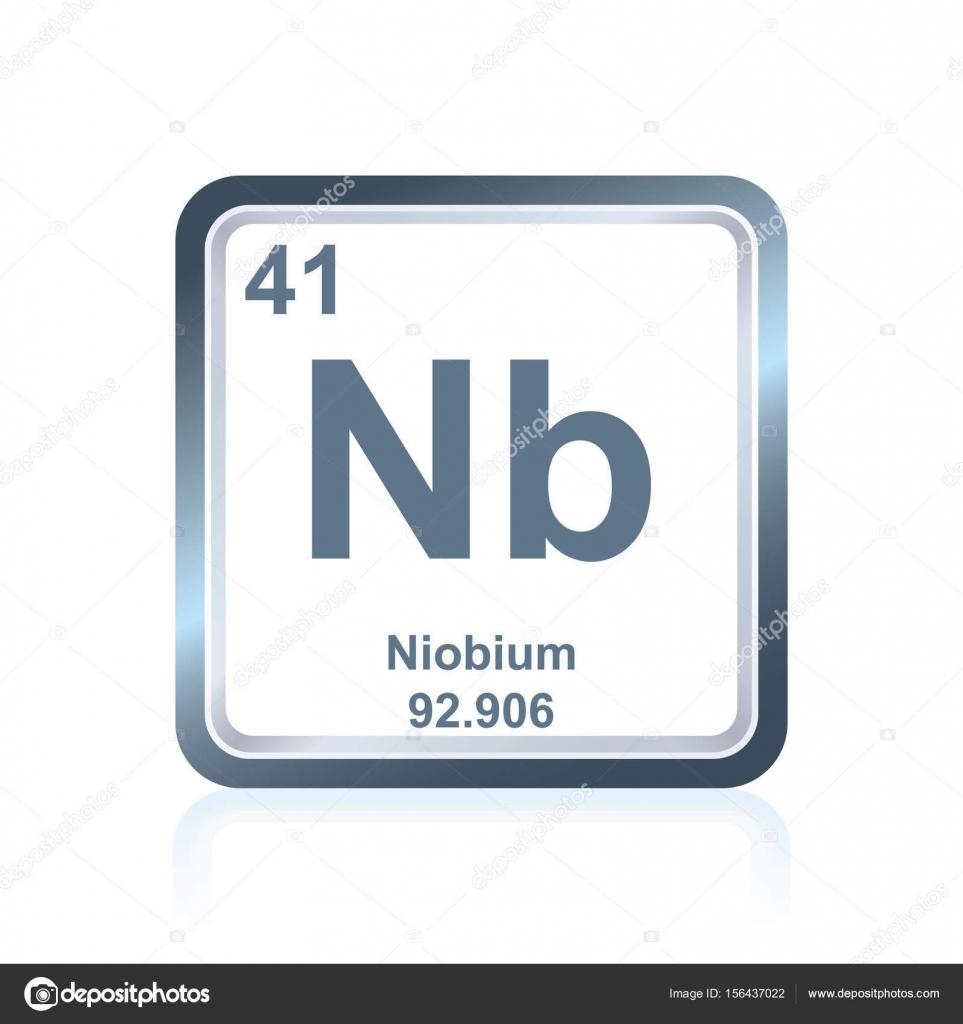 Niobio elemento qumico de la tabla peridica vector de stock smbolo del niobio elemento qumico como se ve en la tabla peridica de los elementos incluyendo el nmero atmico y peso atmico vector de noedelhap urtaz Image collections