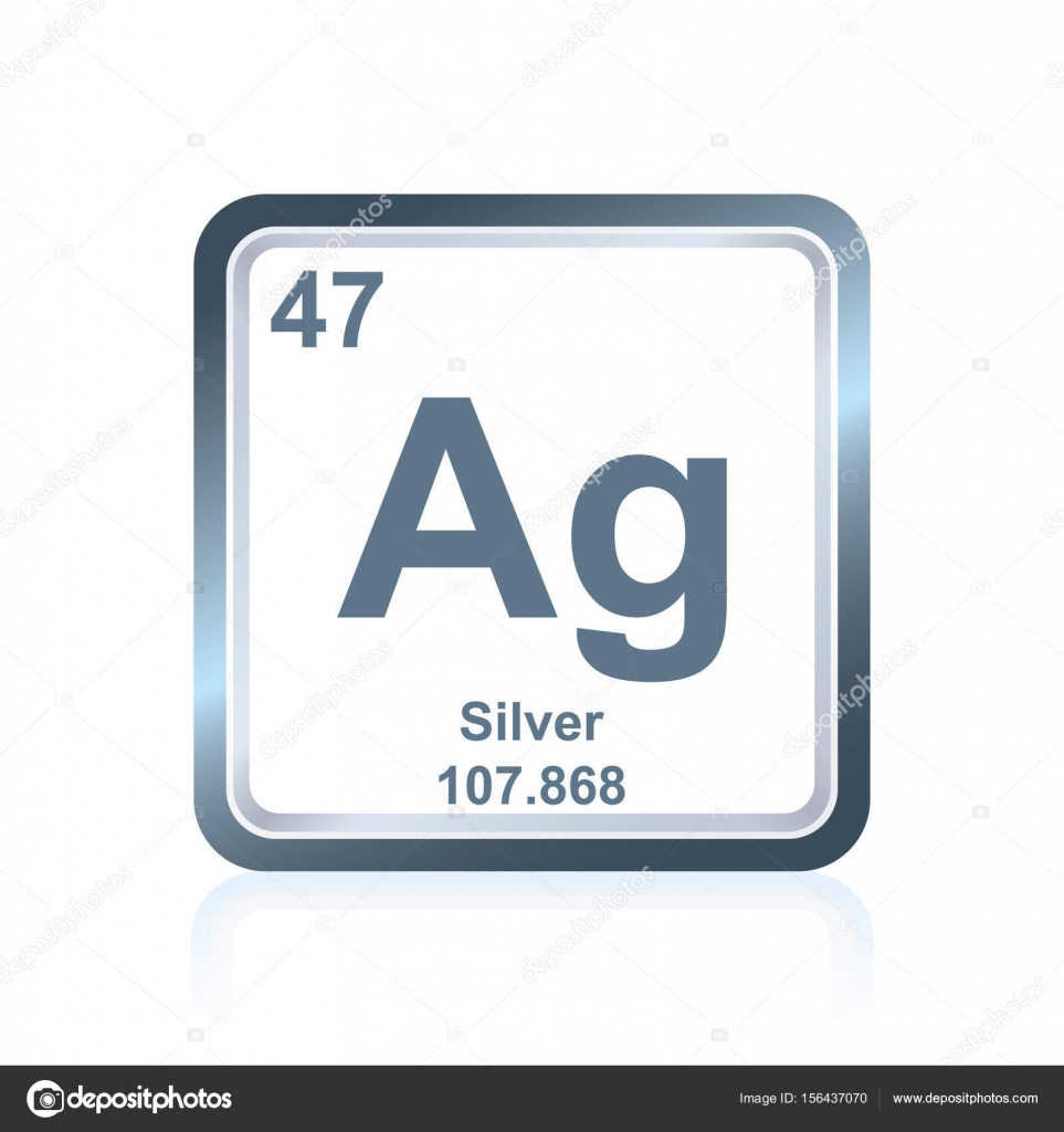 Chemical element silver from the periodic table stock vector symbol of chemical element silver as seen on the periodic table of the elements including atomic number and atomic weight vector by noedelhap buycottarizona
