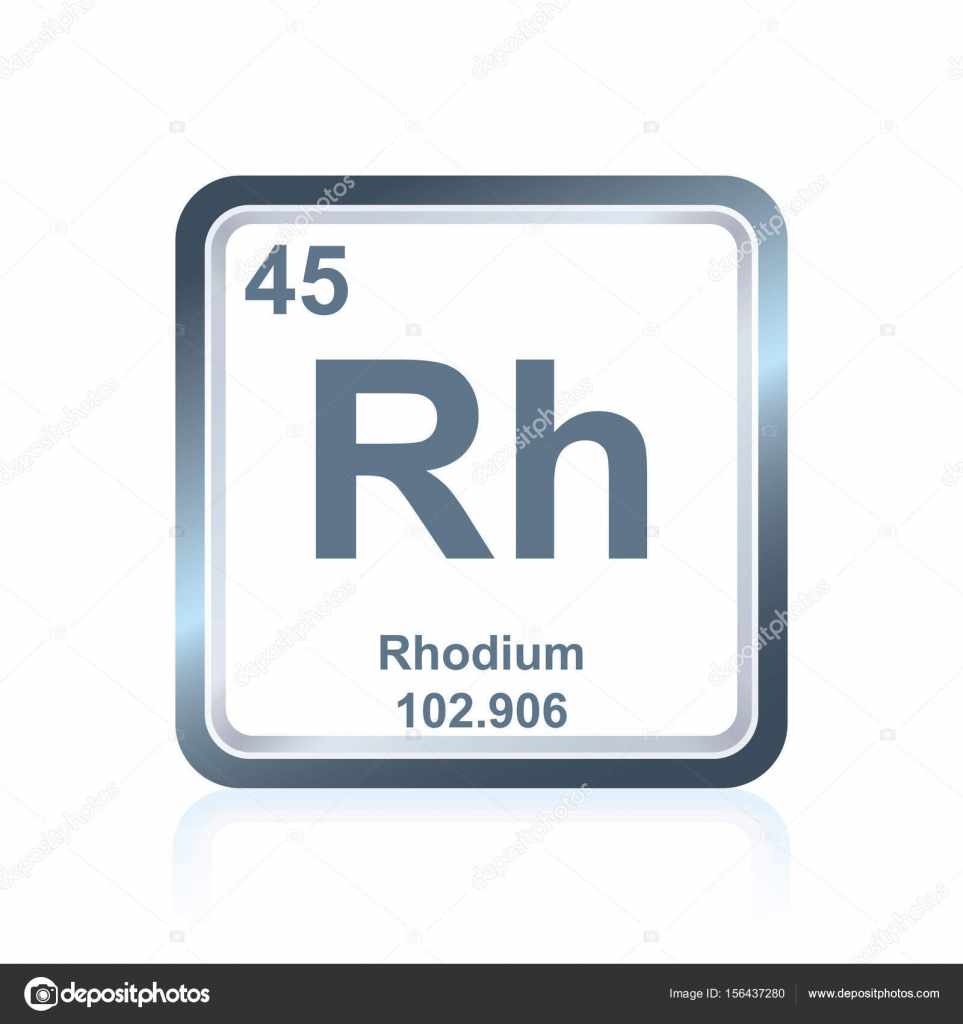 Chemical element rhodium from the periodic table stock vector chemical element rhodium from the periodic table stock illustration gamestrikefo Image collections