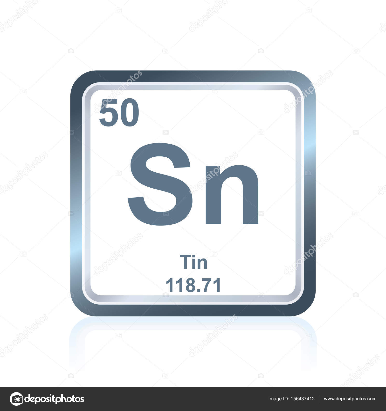 Symbol Of Chemical Element Tin As Seen On The Periodic Table Of The  Elements, Including Atomic Number And Atomic Weight. U2014 Vector By Noedelhap