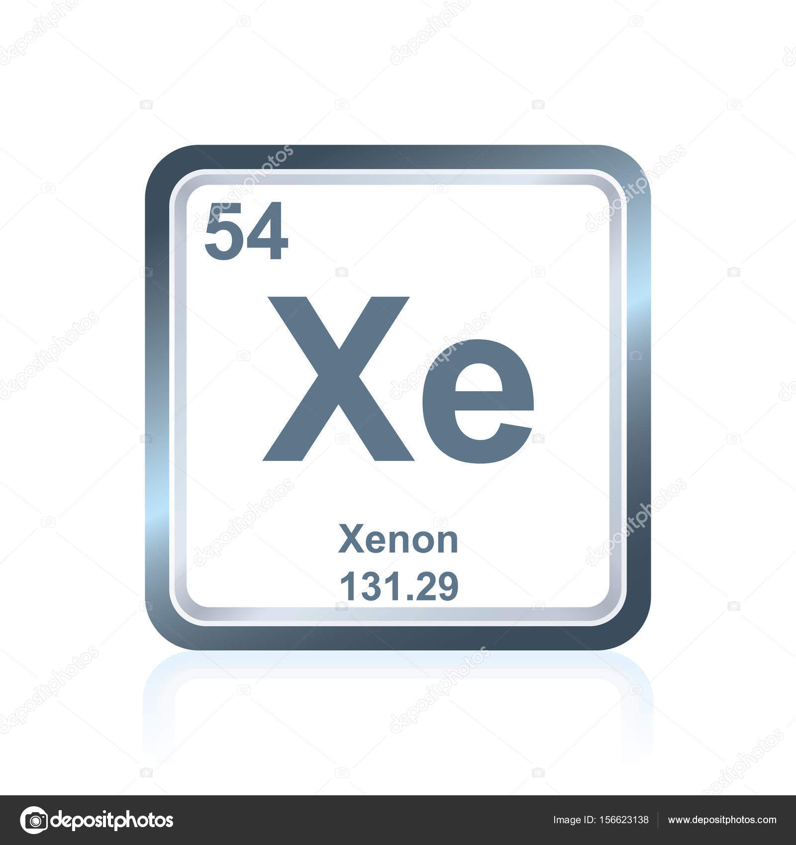 Chemical element xenon from the periodic table stock vector chemical element xenon from the periodic table stock vector urtaz Images