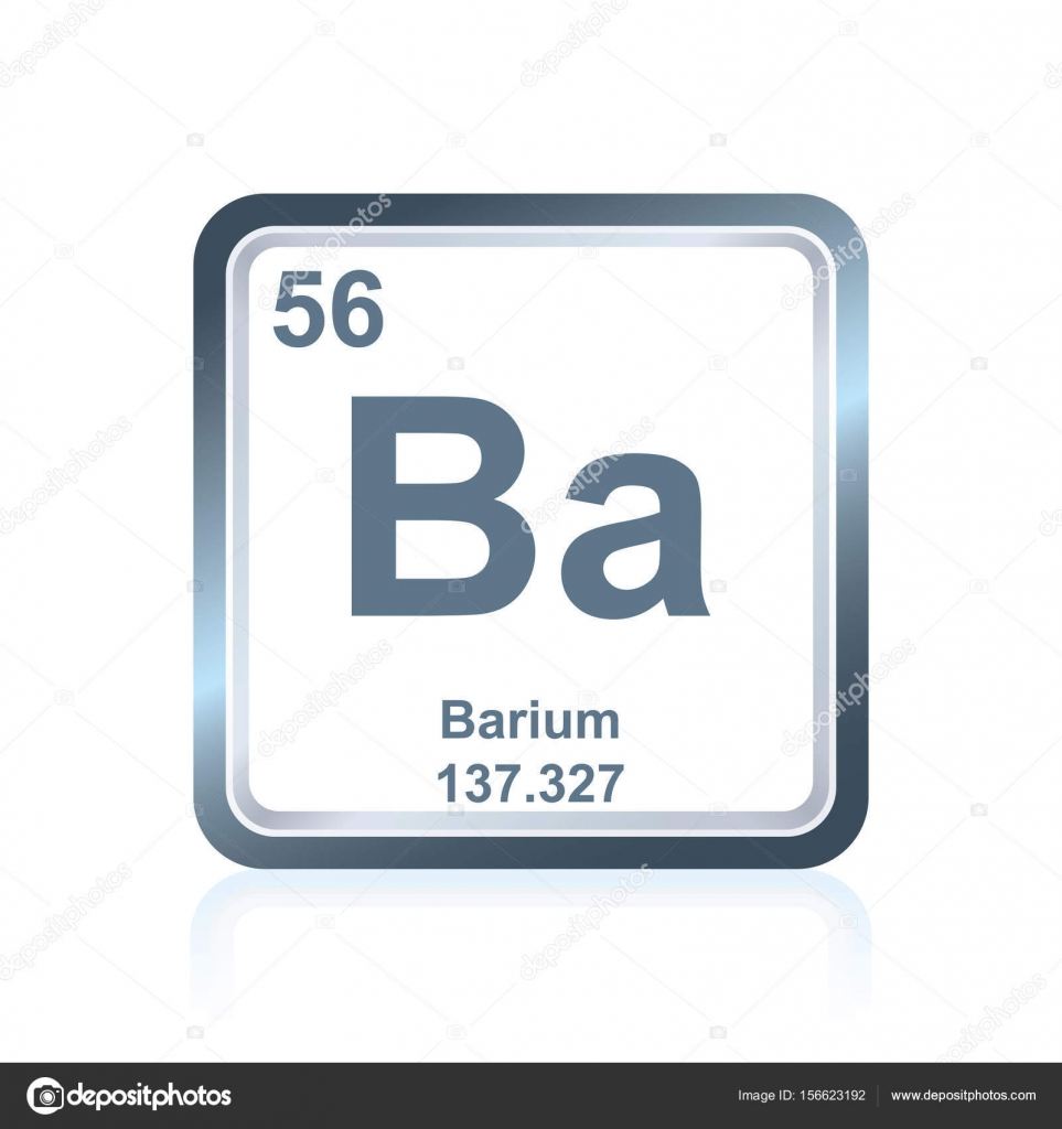 Chemical element barium from the periodic table stock vector symbol of chemical element barium as seen on the periodic table of the elements including atomic number and atomic weight vector by noedelhap biocorpaavc Images
