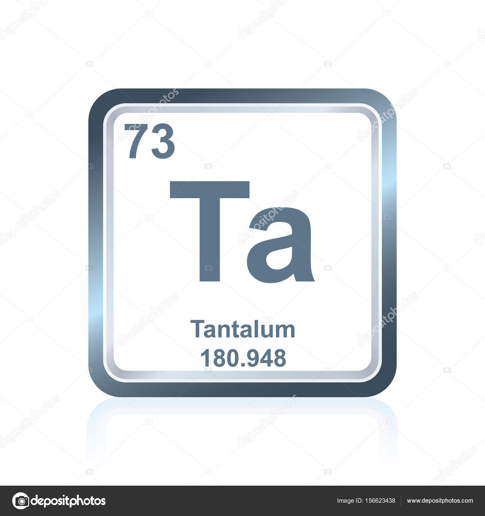 Chemical element tantalum from the periodic table stock vector symbol of chemical element tantalum as seen on the periodic table of the elements including atomic number and atomic weight vector by noedelhap urtaz