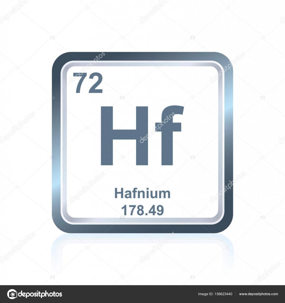 Hafnio elemento qumico de la tabla peridica vector de stock smbolo de hafnio elemento qumico como se ve en la tabla peridica de los elementos incluyendo el nmero atmico y peso atmico vector de noedelhap urtaz Images