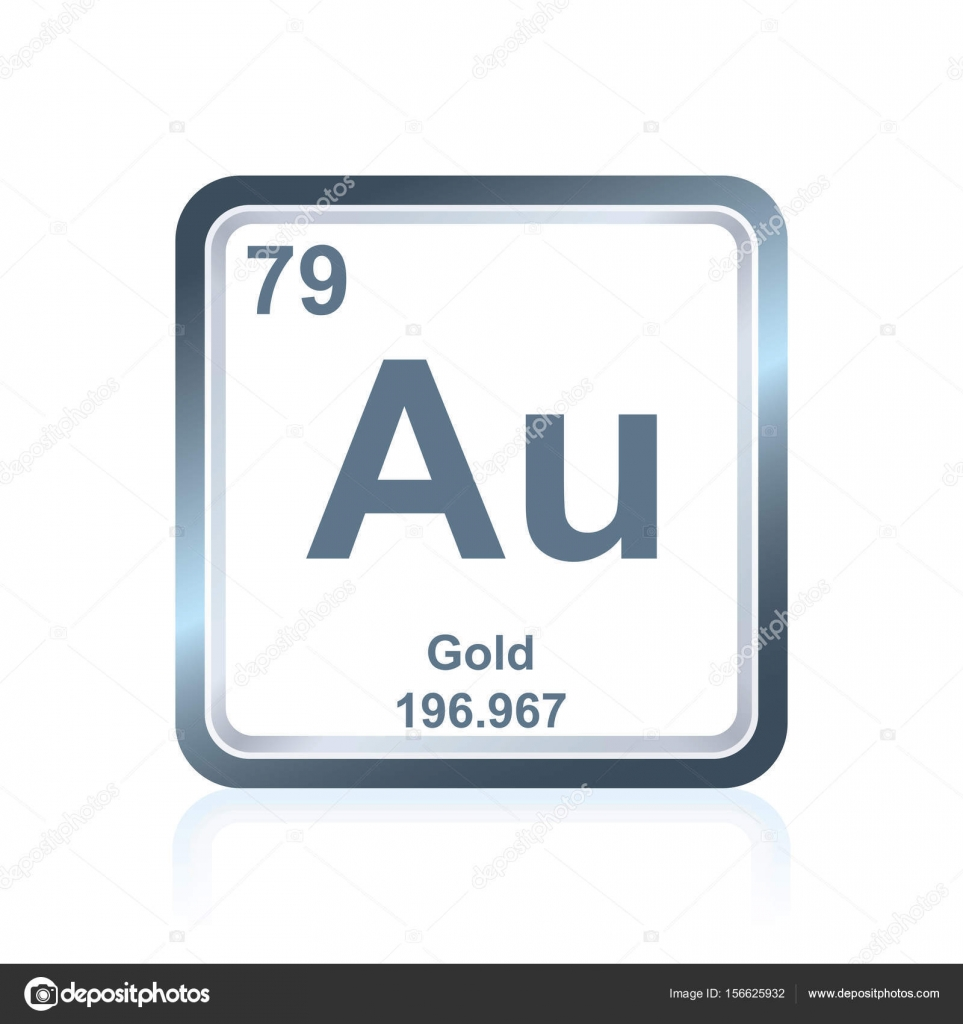 Chemical element gold from the periodic table stock vector symbol of chemical element gold as seen on the periodic table of the elements including atomic number and atomic weight vector by noedelhap urtaz Image collections