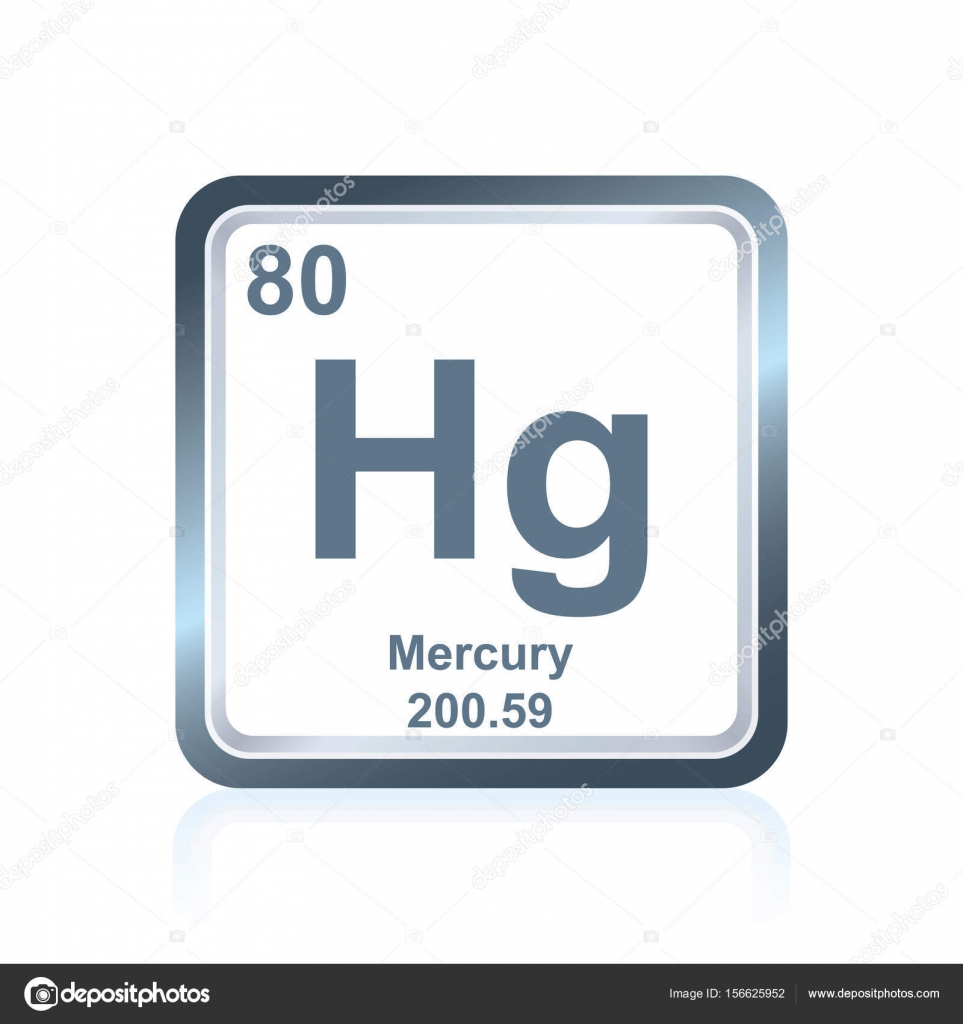 Chemical element mercury from the periodic table stock vector symbol of chemical element mercury as seen on the periodic table of the elements including atomic number and atomic weight vector by noedelhap buycottarizona Gallery