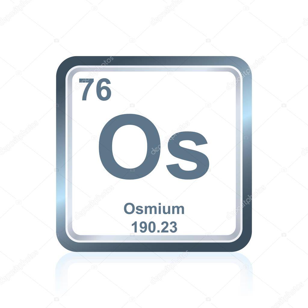 Ósmio de elemento químico da tabela periódica — Vetores de ...