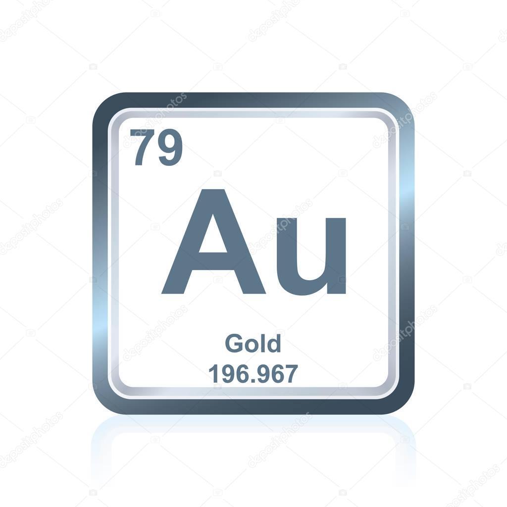 Element Silvers: Élément Chimique Or Du Tableau Périodique