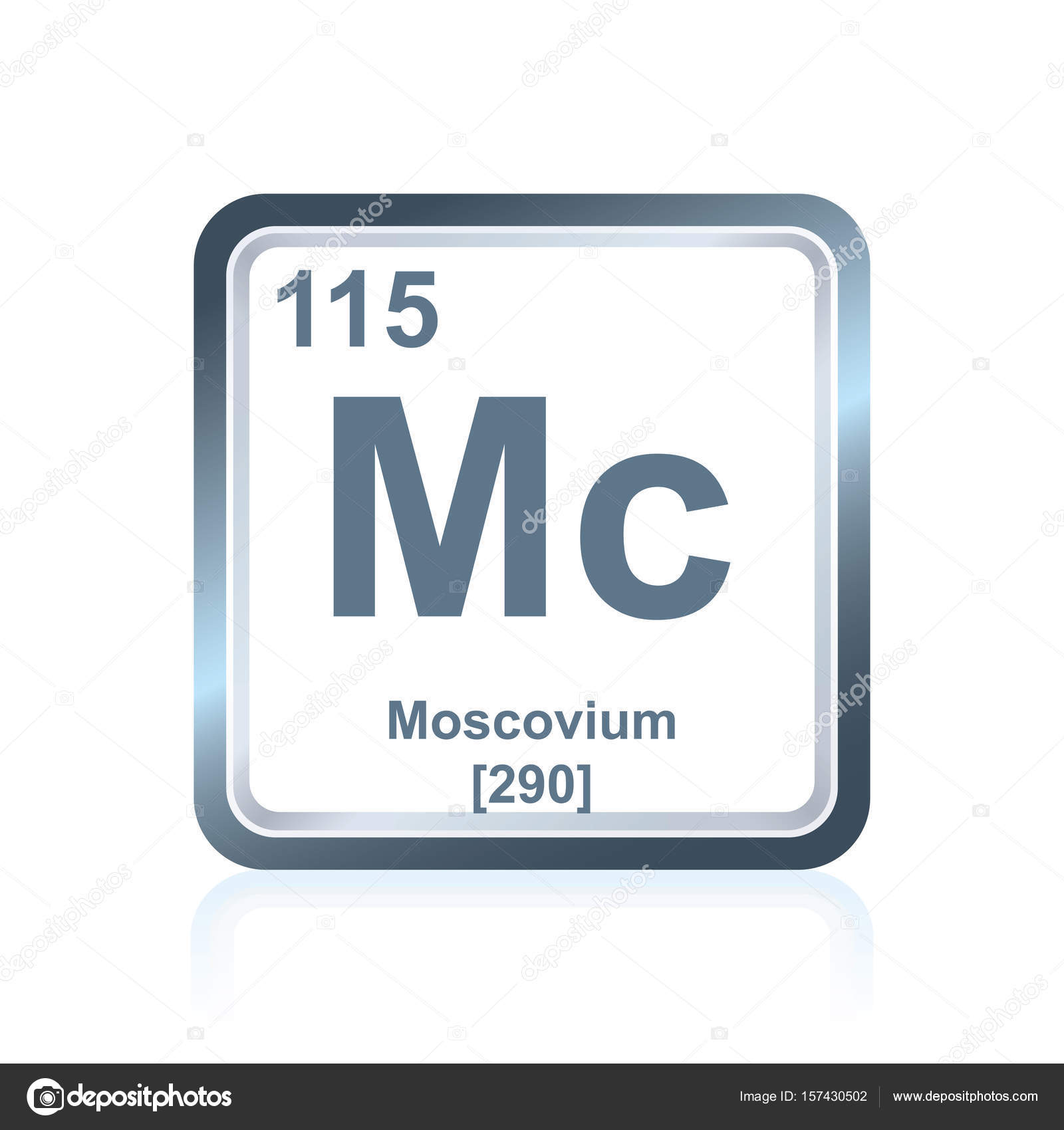 Chemical element moscovium from the periodic table stock photo symbol of chemical element moscovium as seen on the periodic table of the elements including atomic number and atomic weight photo by noedelhap urtaz Images