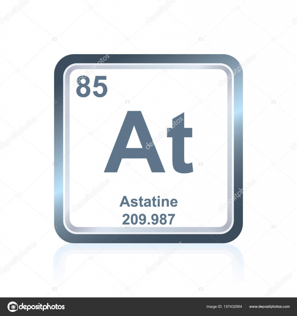 Chemical element astatine from the periodic table stock vector symbol of chemical element astatine as seen on the periodic table of the elements including atomic number and atomic weight vector by noedelhap gamestrikefo Image collections