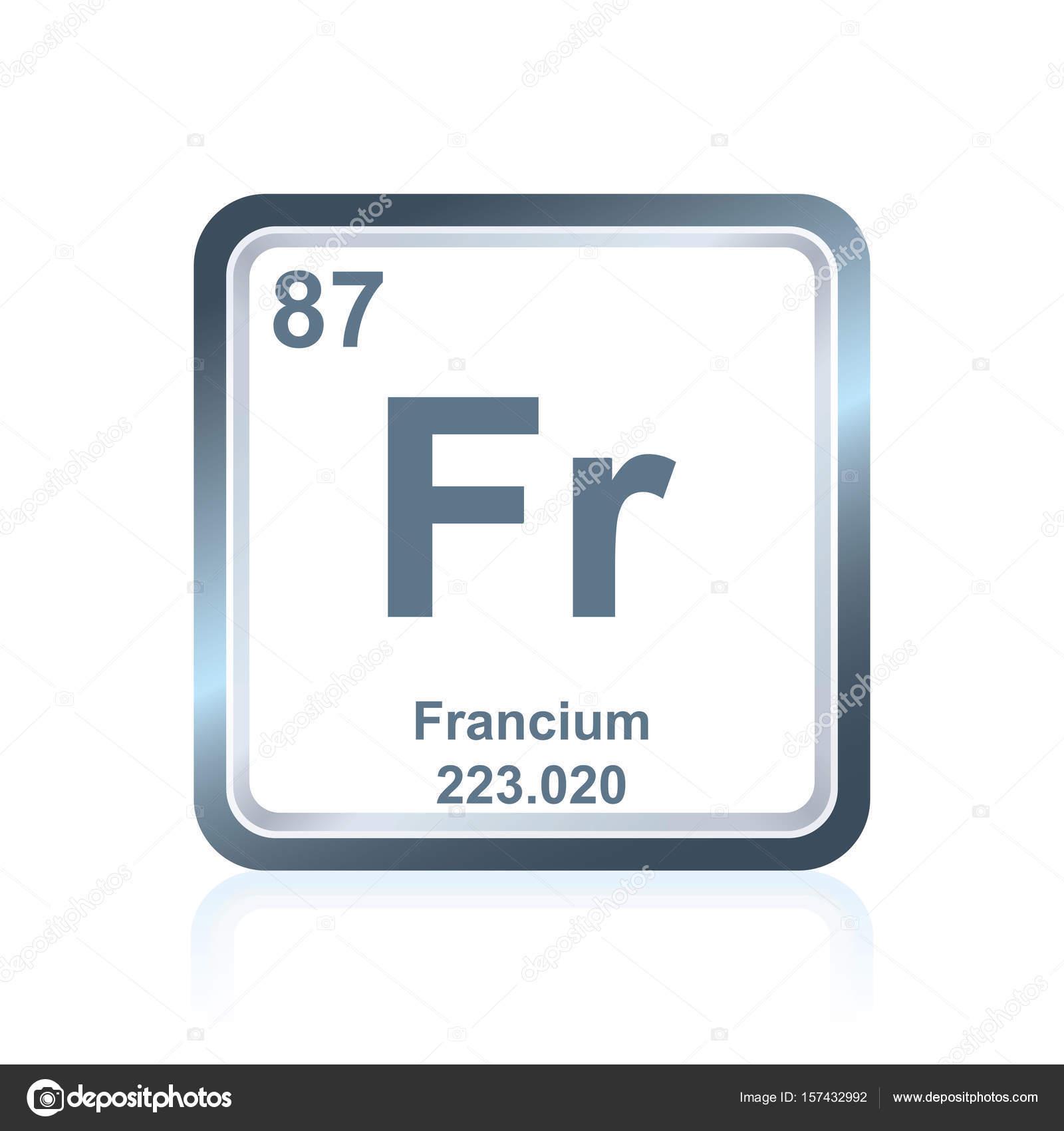 Francio elemento qumico de la tabla peridica vector de stock francio elemento qumico de la tabla peridica vector de stock urtaz Image collections