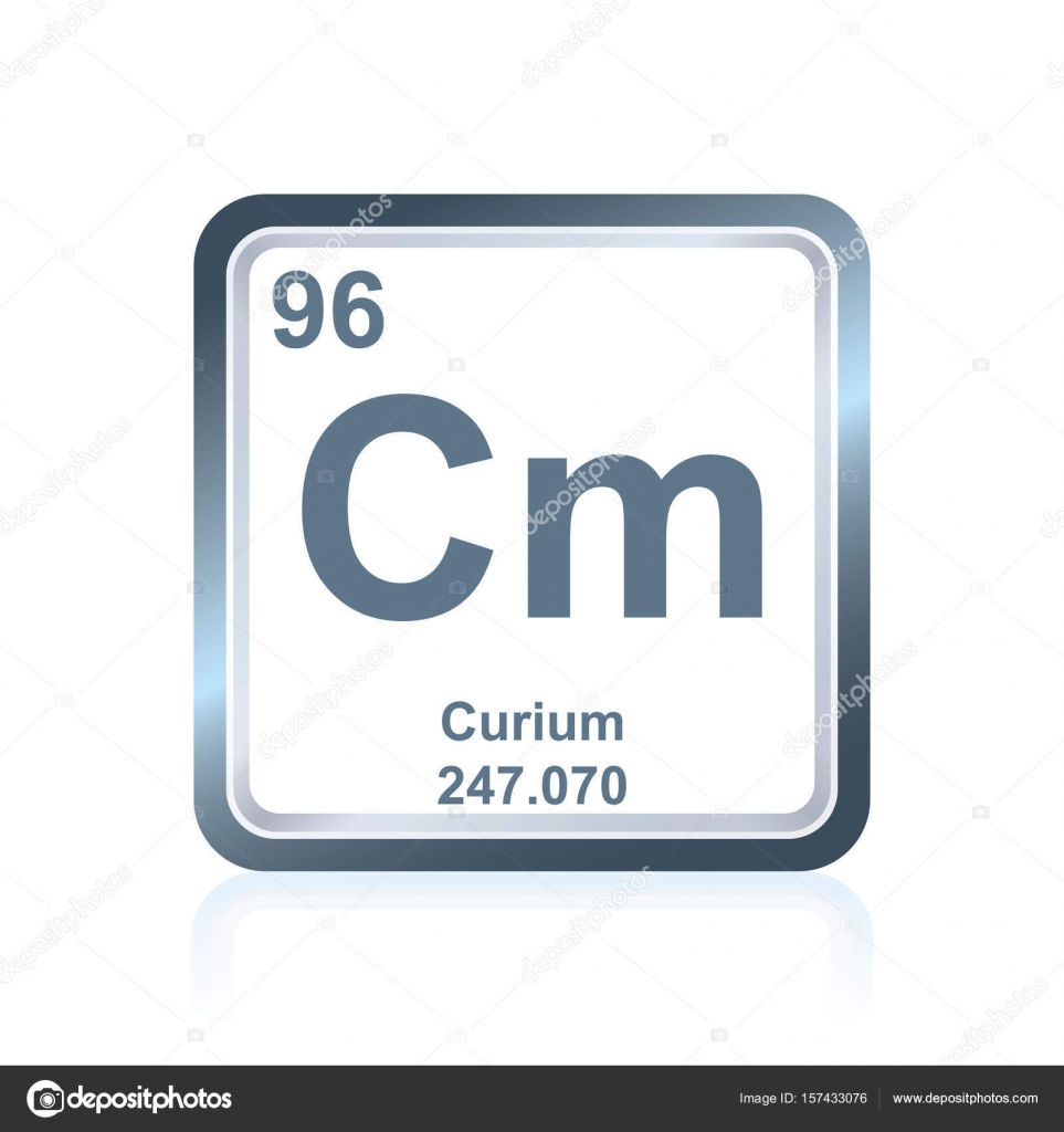 Chemical Element Curium From The Periodic Table Stock Vector