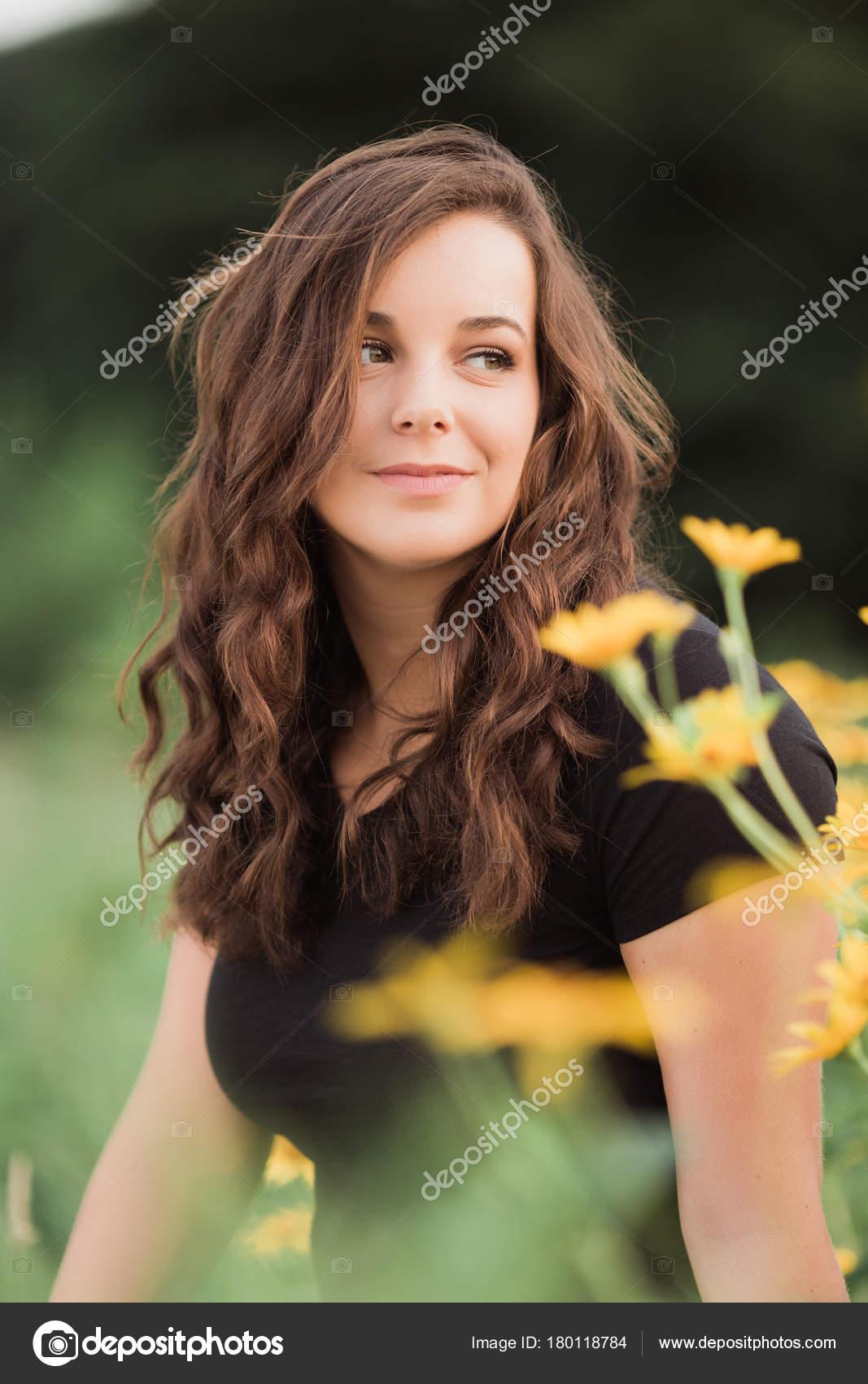 brunette teen girl Pretty