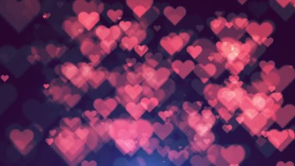 Színes szív Bokeh hurok boldog Valentin háttér