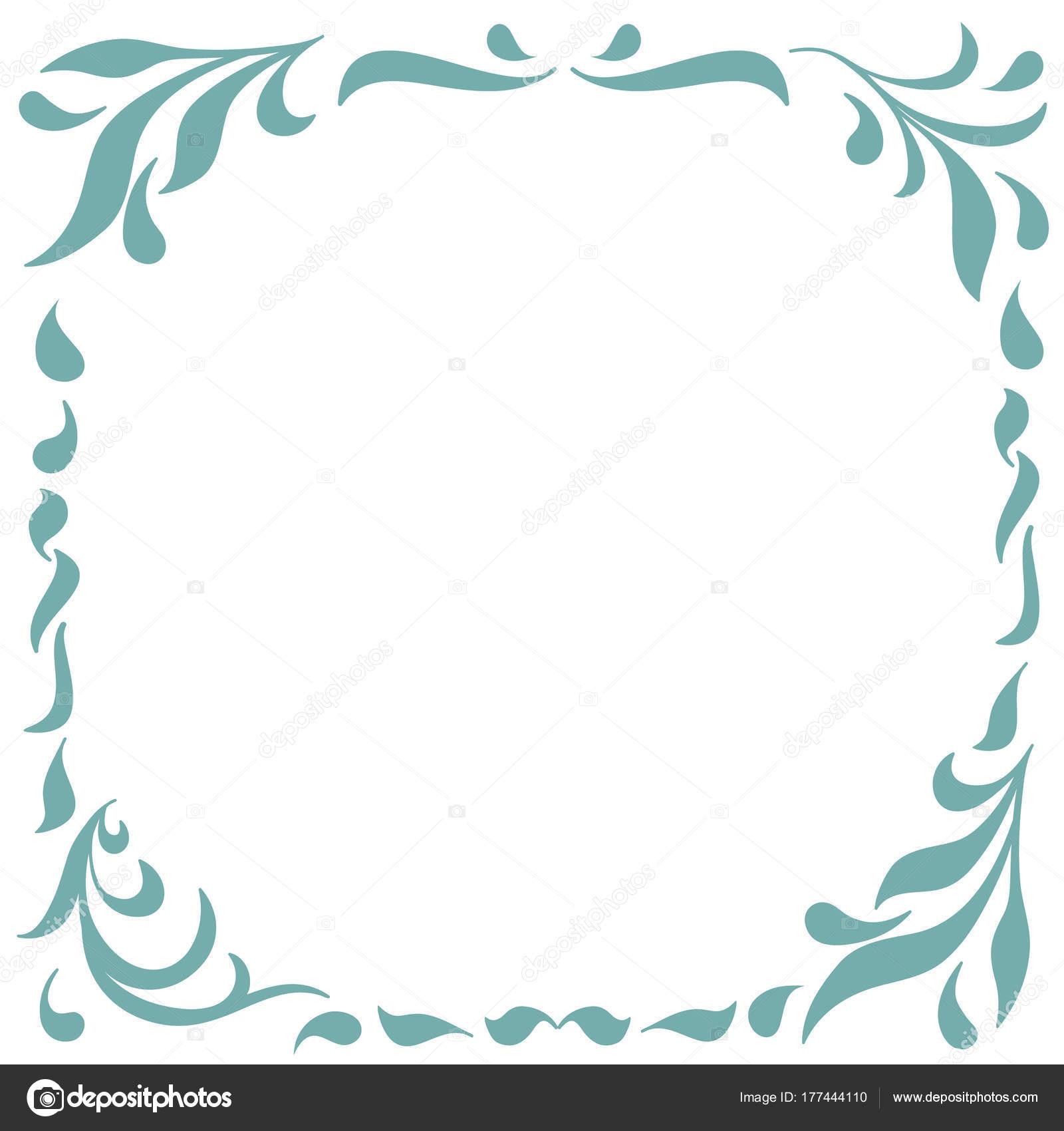 Floral marco para el diseño de monogramas, invitaciones, Marcos ...