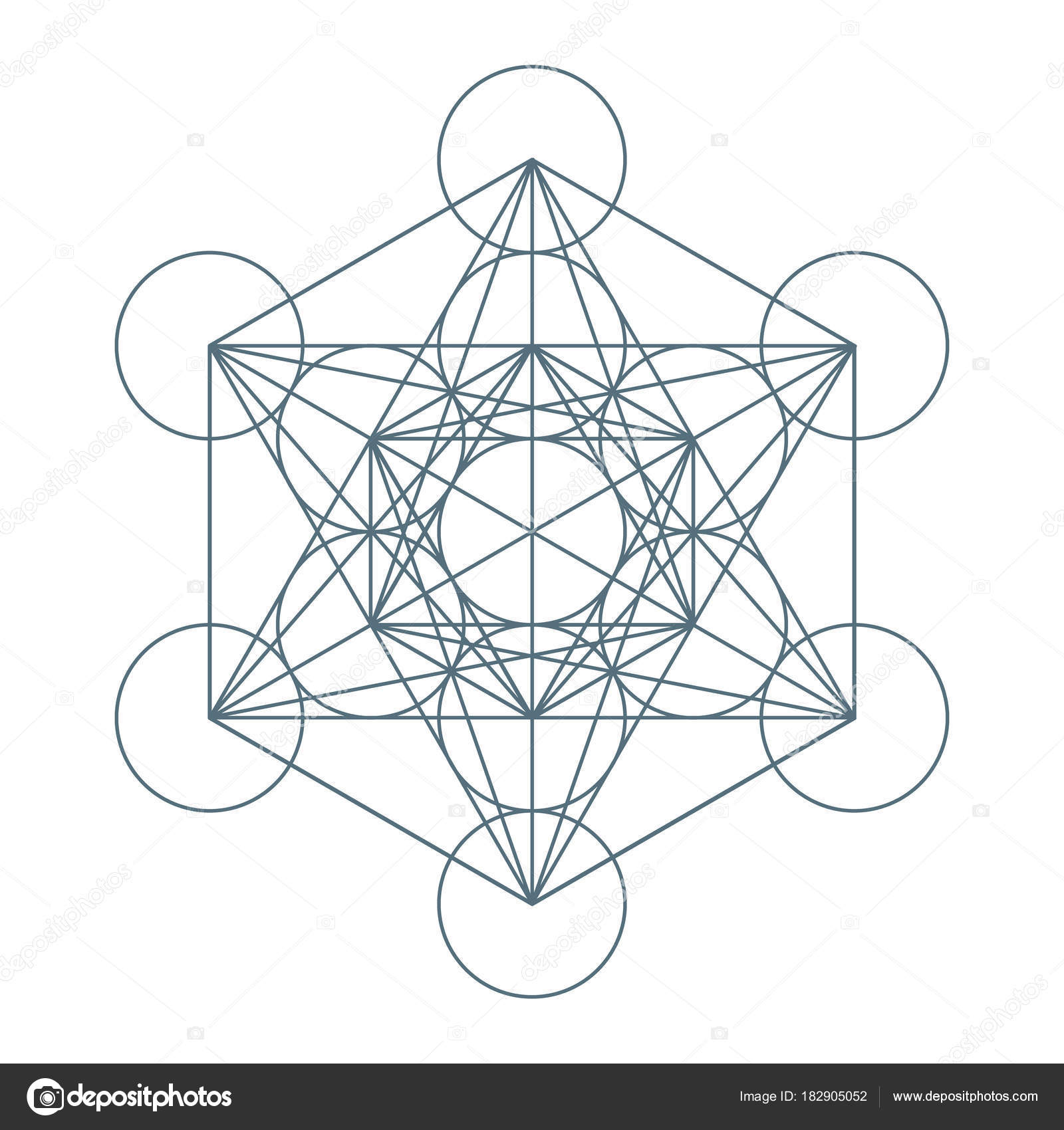 Flower of Life. Sacred Geometry. Symbol of Harmony and Balance. Vector — Stock