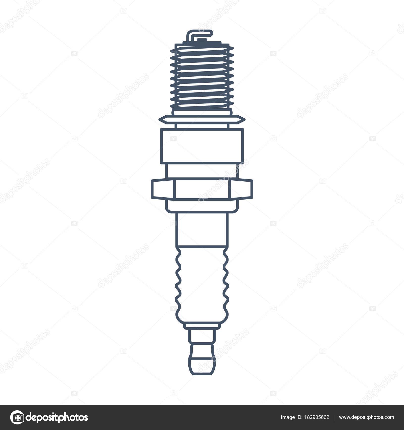 Plantilla de diseño de logo de vector de bujía. Icono de servicio ...