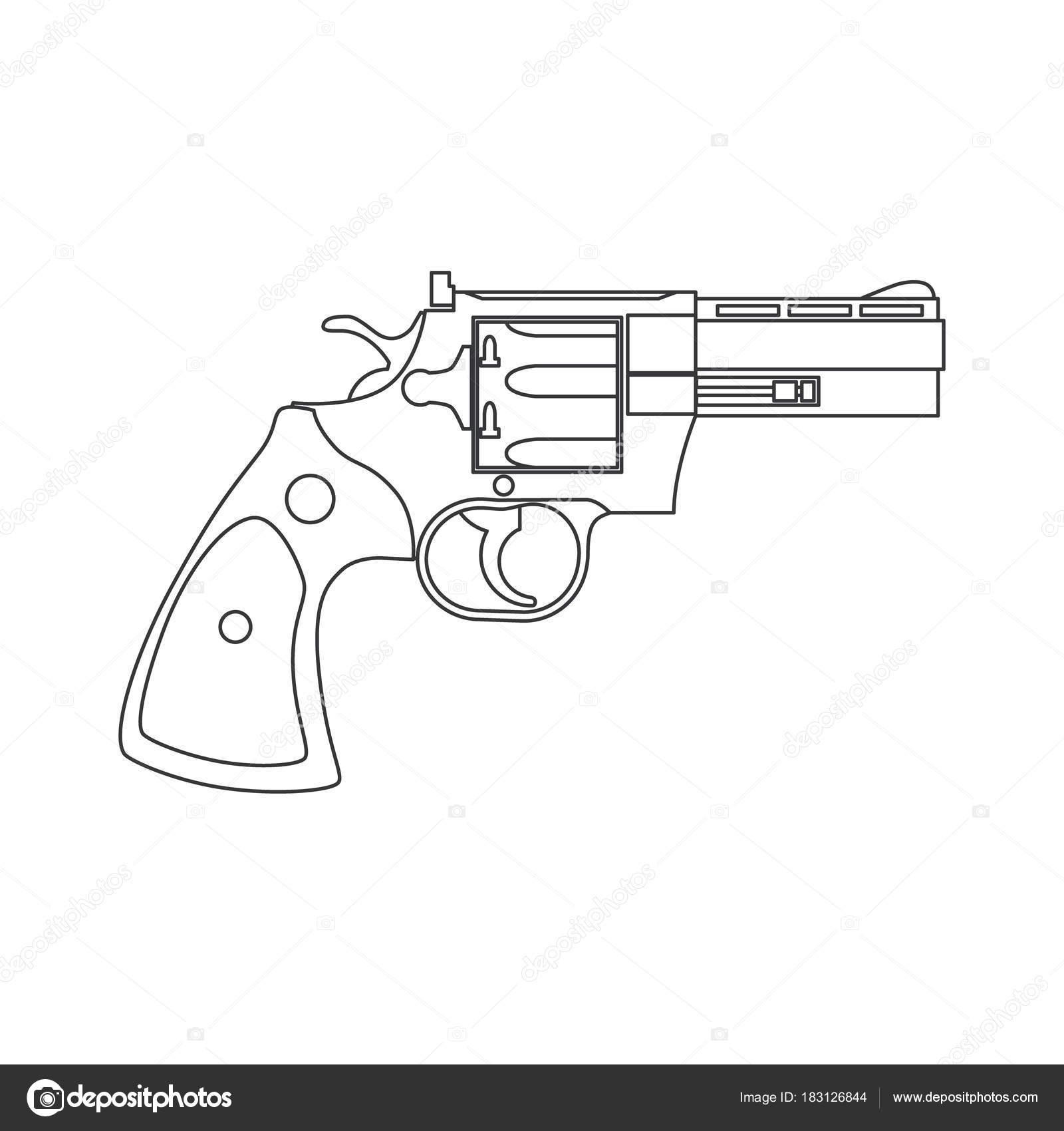 Imágenes Pistola De Pintar Dibujo Pistola Revólver