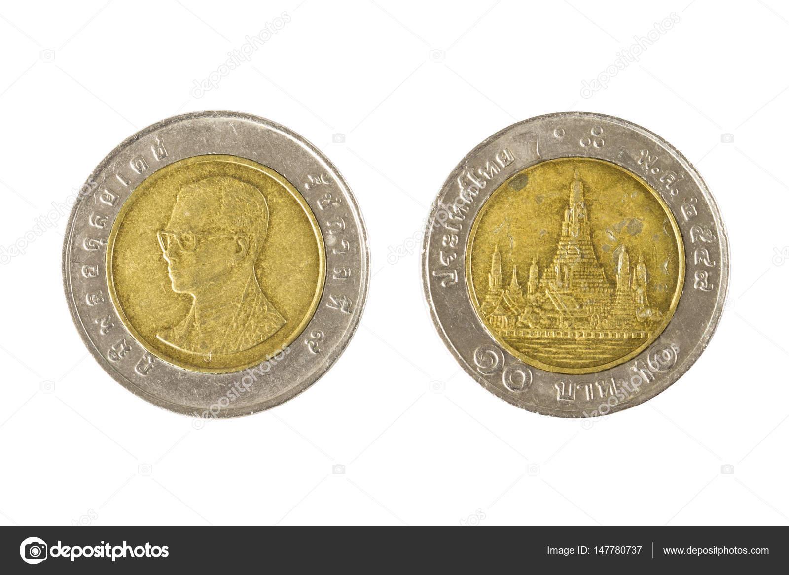 Thai 10 Baht Münzen Stockfoto Charlottelake 147780737