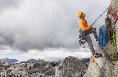 Rock climber on the edge.