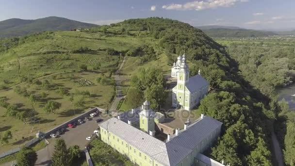Létání nad Saint Nicholas Monastery, Mukačevo, Ukrajina